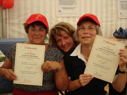 Stolze Teilnehmerinnen der 3. Seniorenolympiade - Foto: Pro Seniore