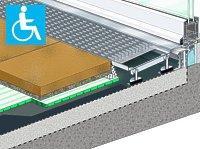 Terrassentürschwelle barrierefrei mit rückstaufreier Entwässerung
