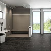 Mit einer bodenebenen Dusche kann das komplette Bad barrierefrei und individuell gestaltet werden. - Foto: Schlüter-Systems