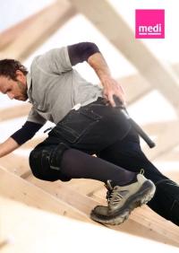 Bei körperlich aktiven Männern muss der Strumpf besonderen Anforderungen genügen - auch in Arbeits- und Sicherheitsschuhen. - Foto: djd/medi