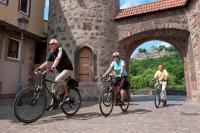 Karlstadt liegt am Main-Radweg und ist mit seiner historischen Altstadt ein lohnenswertes Ausflugsziel für eine Radtour. - Foto: djd/TVF/Fränkisches Weinland/ Andreas Hub