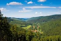 Natur pur - der sogenannte Försterstieg bietet als Weitwanderweg beste Panorama-Aussichten über den Westharz.  Foto: djd | Touristinformation Osterode am Harz