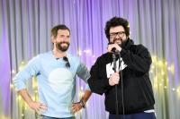 Autor Micky Beisenherz (links) und Comedian Oliver Polack schrieben nach dreitägigem Besuch ein Comedyprogramm über und für die Bewohner im Haus Stephanus. Foto: Christian Weische