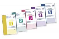 Die fünf Info-Broschüren des Bundesverbands Ambulante Dienste und Stationäre Einrichtungen e.V. - Foto: bad e.v.