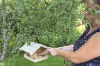 Artgerechtes Fettfutter ist auch im Sommer ein hervorragender Energiespender für Wildvögel. Foto: Welzhofer