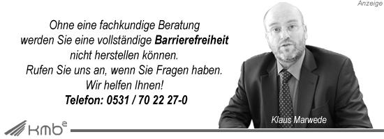 Barrierefreiheit - Beratung | kmb2 Abrechnungszentrum GmbH  Foto: Klaus Marwede